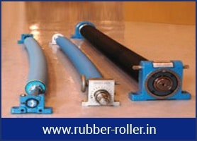 bowed spreader rubber rollers