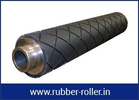 diamond grooved rubber rollers in ahmedabad, India