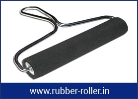 bowed spreader rubber roll