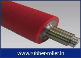 impression rubber roller