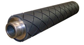 Diamond-Grooved-Rubber-Rollers