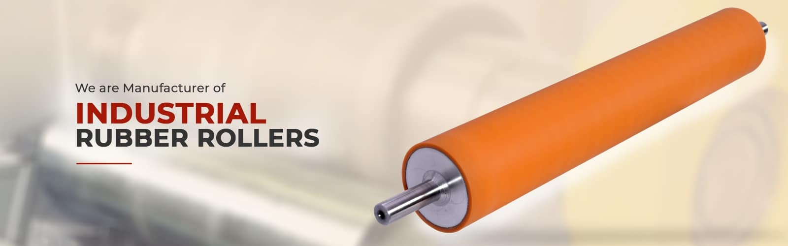 rubber roller manufacturer and supplier